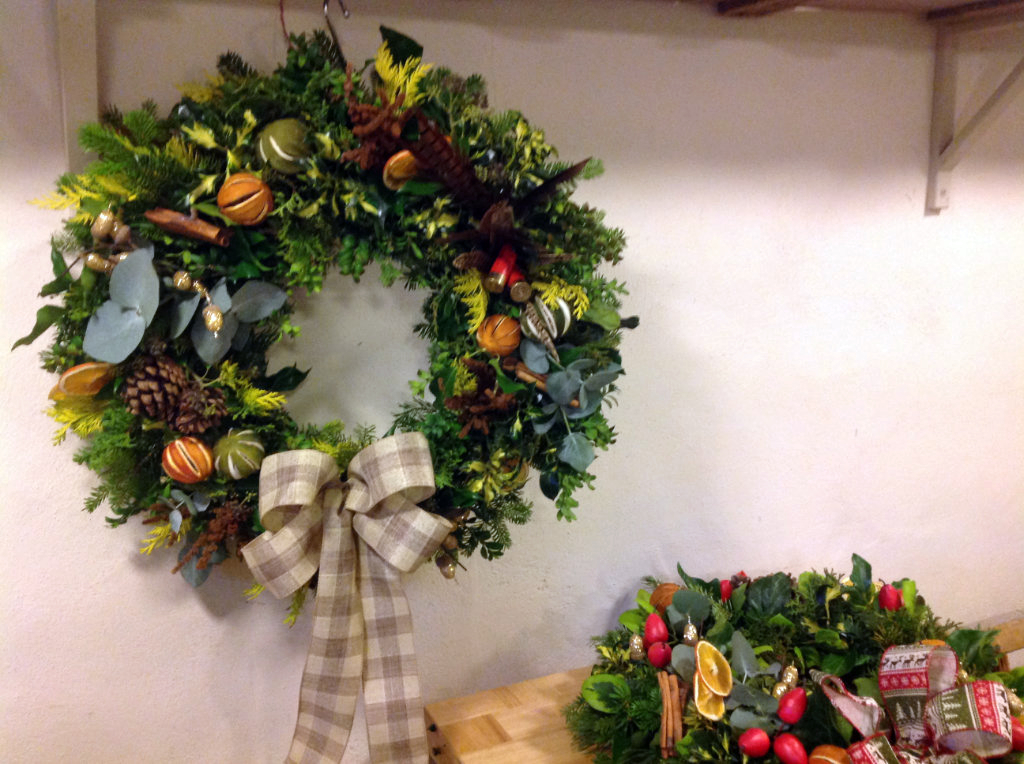 Christmas Door Garlands In The Garden Hall Food Company